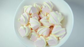 Colorful marshmallows candy (rotating) stock footage