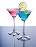 Colorful Martini Cocktails Stock Photos