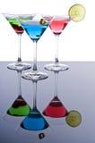 Colorful Martini Cocktails stock photo