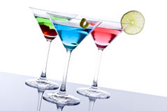 Colorful Martini Cocktails Stock Photo