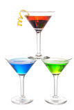 Colorful Martini Cocktails drink composition Royalty Free Stock Images