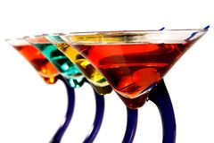 Colorful martinis Stock Photos