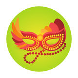 Colorful Mask Icon Brazil Carnival Rio Holiday Party Celebration Royalty Free Stock Images