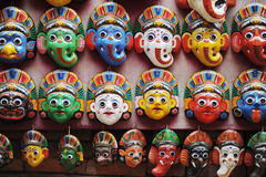 Colorful Masks in Kathmandu,Nepal Stock Images