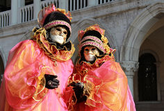 Colorful masks in San Marco Stock Images