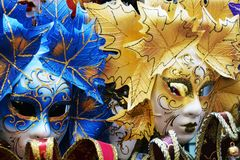 Colorful masks, in Venice, Italy Stock Images