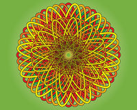 Colorful mat. Vector of the colorful woven mat Royalty Free Stock Images