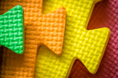 Colorful mat pieces close up Royalty Free Stock Photography