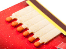 Colorful Matchbook. Closeup on white background Stock Photo