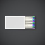 Colorful matches in a box. Stock Photos