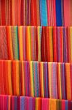Colorful material for sale at the art and craft market of Fenghuang Stock Photography