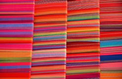 Colorful material for sale at the art and craft market of Fenghuang Stock Image