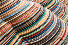 Colorful materials pile royalty free stock photos