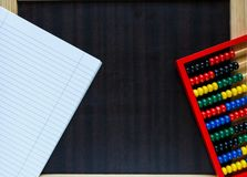 Colorful math fractions on wooden background or table. interesting math for kids. Education, back to school concept. Geometry. And mathematics materials stock image
