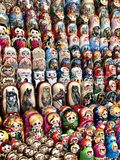 Colorful Matryoshka souvenir dolls royalty free stock photos