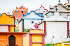 Colorful maya cemetery by Chichicastenango in Guatemala. View on colorful maya cemetery by Chichicastenango in Guatemala Royalty Free Stock Image