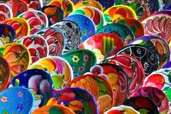 Colorful Mayan Bowls Stock Images