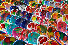 Colorful Mayan Bowls for Sale Royalty Free Stock Photography