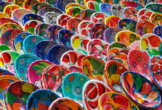 Colorful Mayan Bowls for Sale Stock Photo