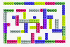 Colorful maze for advertisement Stock Photo