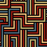 Colorful maze seamless pattern. Stock Images