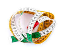 Colorful measure tape Stock Photos