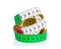 Colorful measure tape Stock Photo