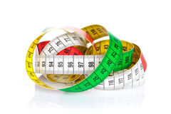 Colorful measure tape Stock Images