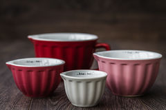 Colorful Measuring Cups Stock Images