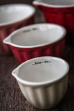Colorful Measuring Cups Royalty Free Stock Photography