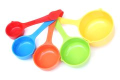 Colorful measuring spoon Stock Photography