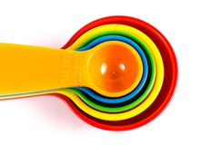 Colorful measuring spoons Stock Photography