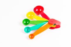colorful measuring spoons Stock Image