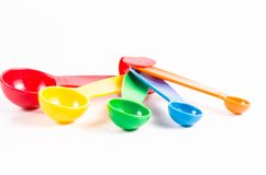 colorful measuring spoons Stock Photos