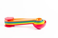 colorful measuring spoons Royalty Free Stock Images