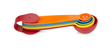 Colorful measuring spoons Royalty Free Stock Photo