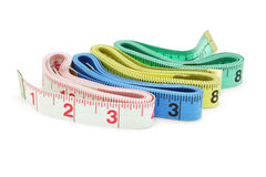 Colorful measuring tapes Royalty Free Stock Photo