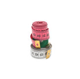 Colorful measuring tapes isolated on white background Stock Photography