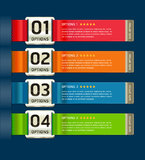 Colorful Medals with Ribbon Style Number. Stock Photos