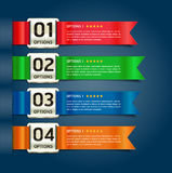Colorful Medals with Ribbon Style Number. Royalty Free Stock Photography