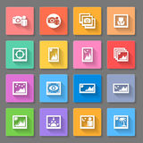 Colorful Media Photo Icons Stock Image