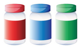 Colorful medical bottles Royalty Free Stock Photos