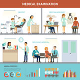 Colorful Medical Examination Infographic Template Stock Image