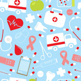 Colorful medical pattern Stock Photography