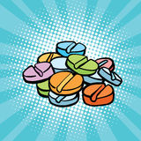 Colorful medical pills, sports doping and drugs Royalty Free Stock Photography