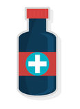 Colorful medicine container, vector graphic Stock Image