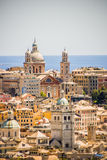 Colorful mediterran city by the sea Stock Photos