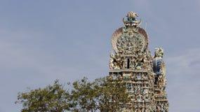 Colorful Of Meenakshi Amman Hindu Temple royalty free stock photo