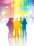 Colorful meeting royalty free illustration