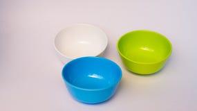 Colorful melamine bowl. Colorful melamine ware bowl royalty free stock image